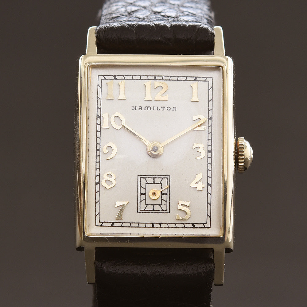 1952 HAMILTON USA 'Brock' 14K Gold Gents Dress Watch