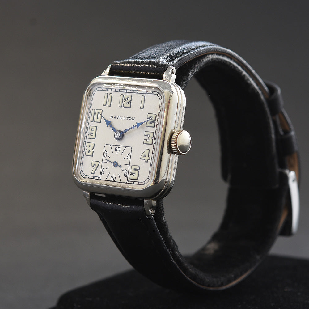 1930 HAMILTON USA 'Hastings' Gents Art Deco Dress Watch