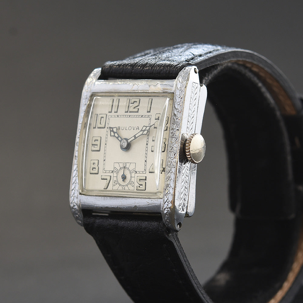 1928 BULOVA 'Ambassador' Swiss Gents Art Deco Watch
