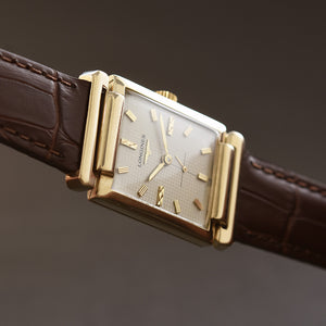 1955 LONGINES 'Pres. Roosevelt Gents 14K Gold Dress Watch