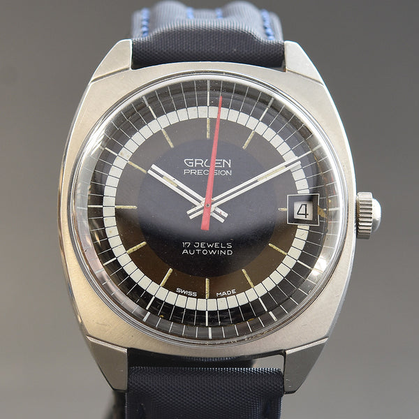 60s GRUEN Precision Autowind Date Stainless Steel Gents Watch