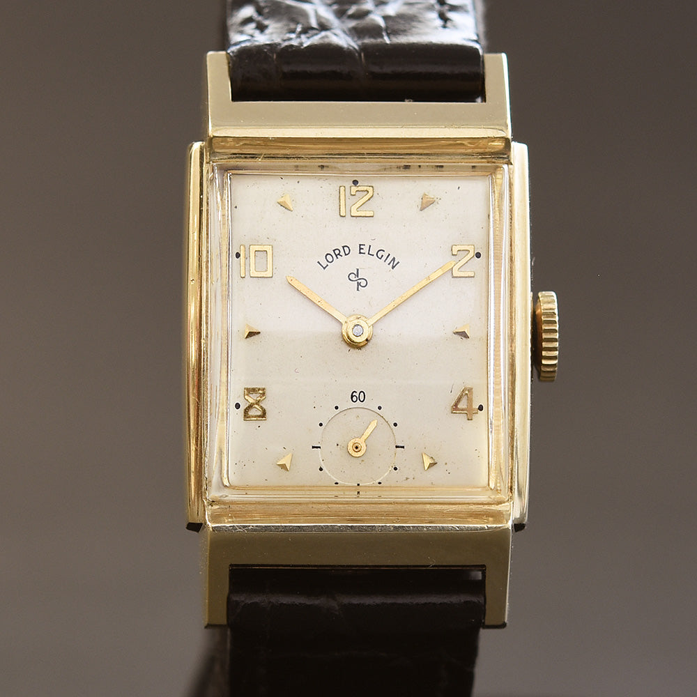 1950 LORD ELGIN 14K Gold Model 4518 Gents Dress Watch