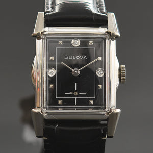 1953 BULOVA USA 'Clifton' Gents Black Dial Dress Watch