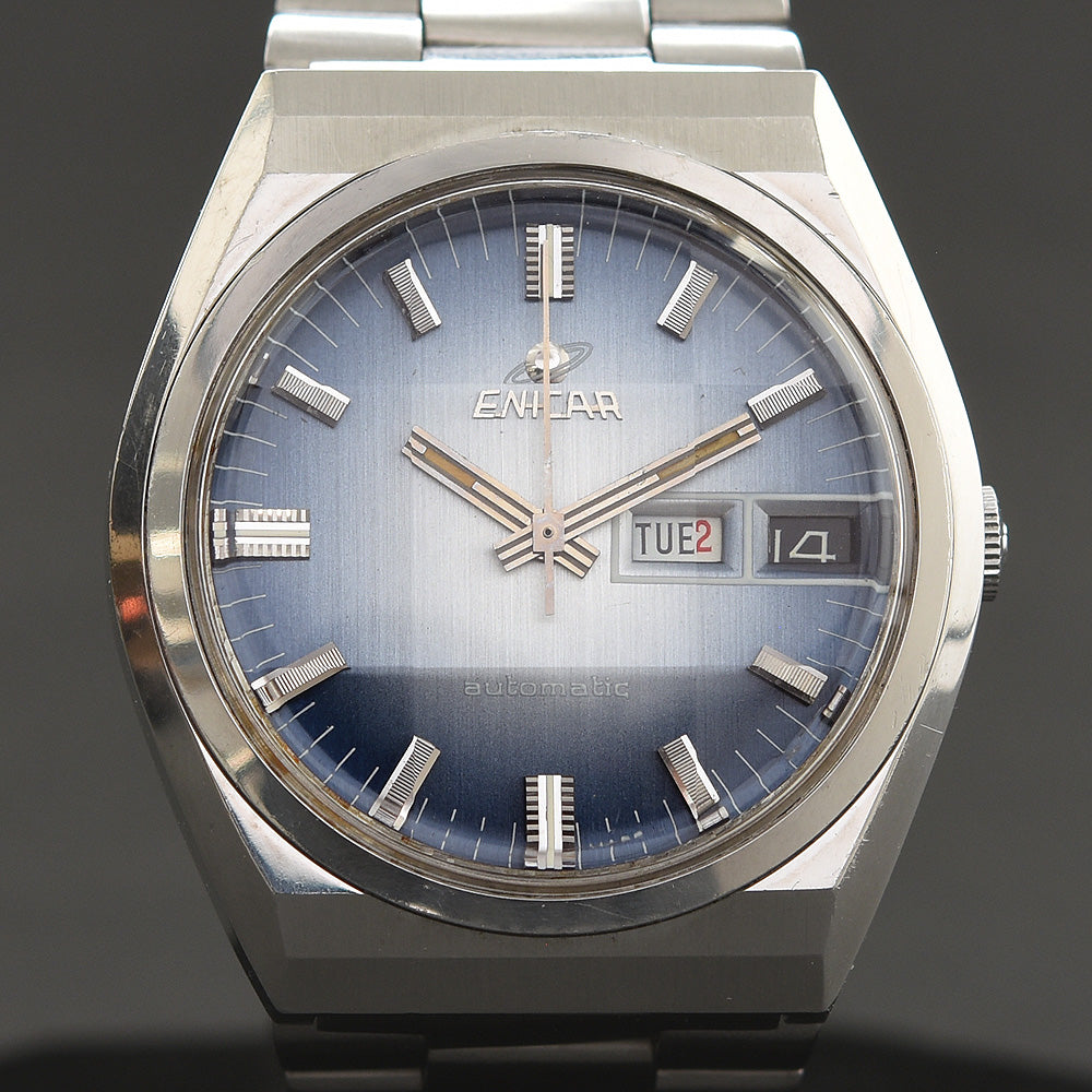 70s ENICAR Automatic Day/Date Gents Vintage Watch