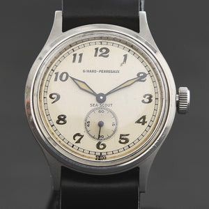 40s GIRARD-PERREGAUX 'Sea-Scout' Bumper Automatic Gents Military Style Watch