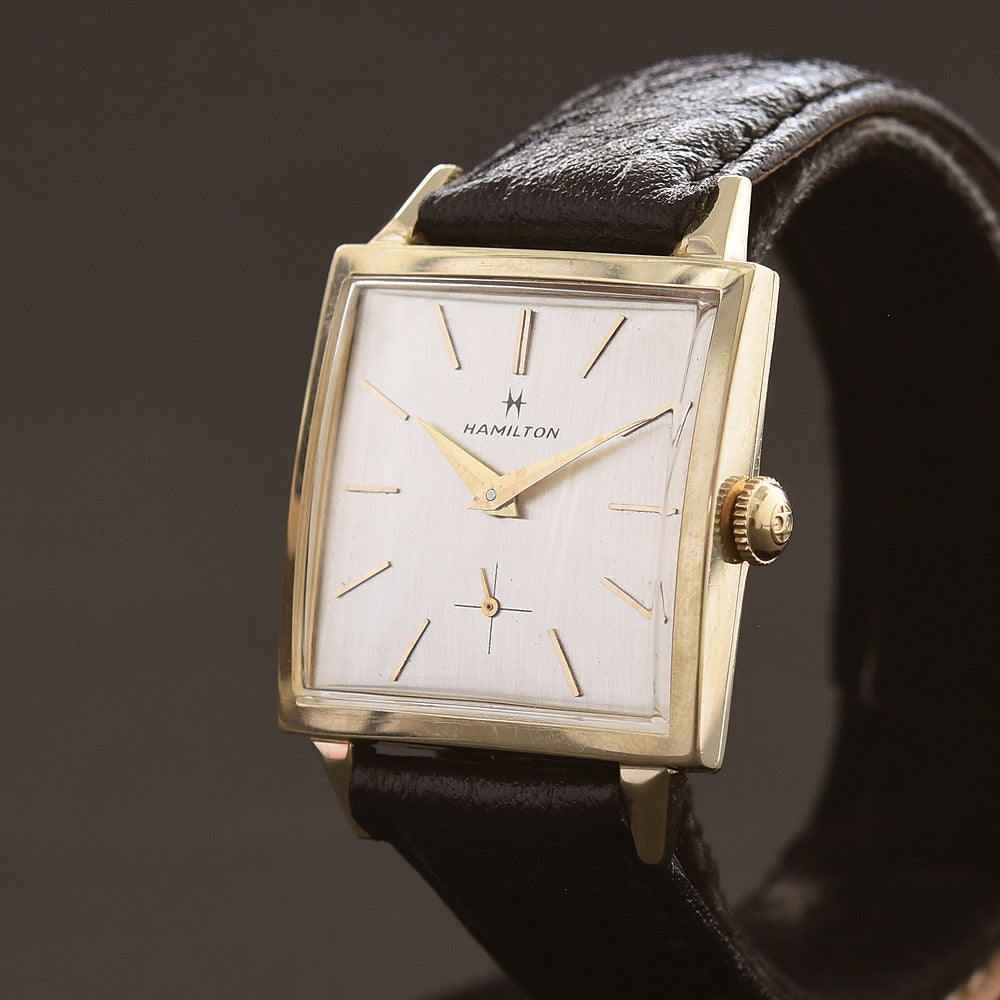 1958 HAMILTON USA 'Courtney' 14K Gold Gents Dress Watch