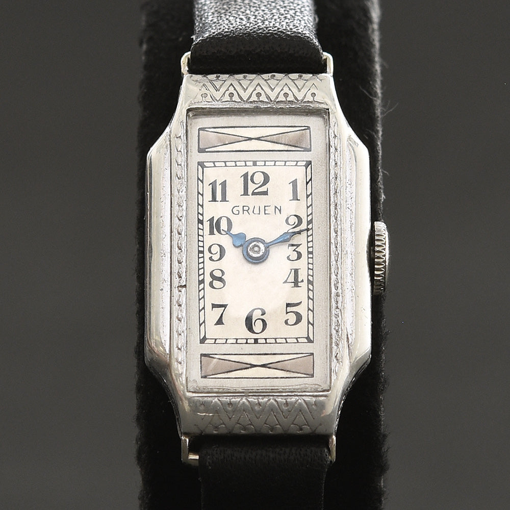 20s GRUEN Ladies Art Deco Sterling Watch