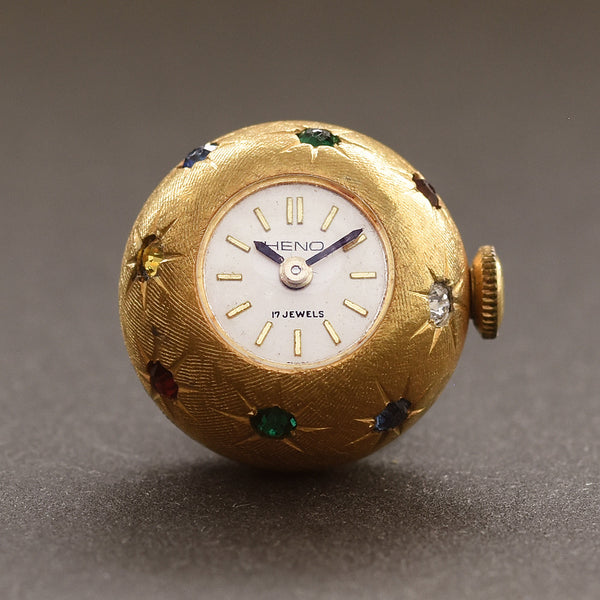 60s HENO Swiss Ladies Vintage Pendant Ball Watch