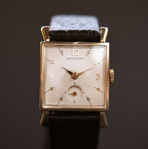 1956 HAMILTON USA 'Sinclair' 14K Gold Gents Dress Watch