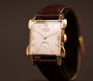 1953 LONGINES Gents Waffle Dial Vintage Dress Watch