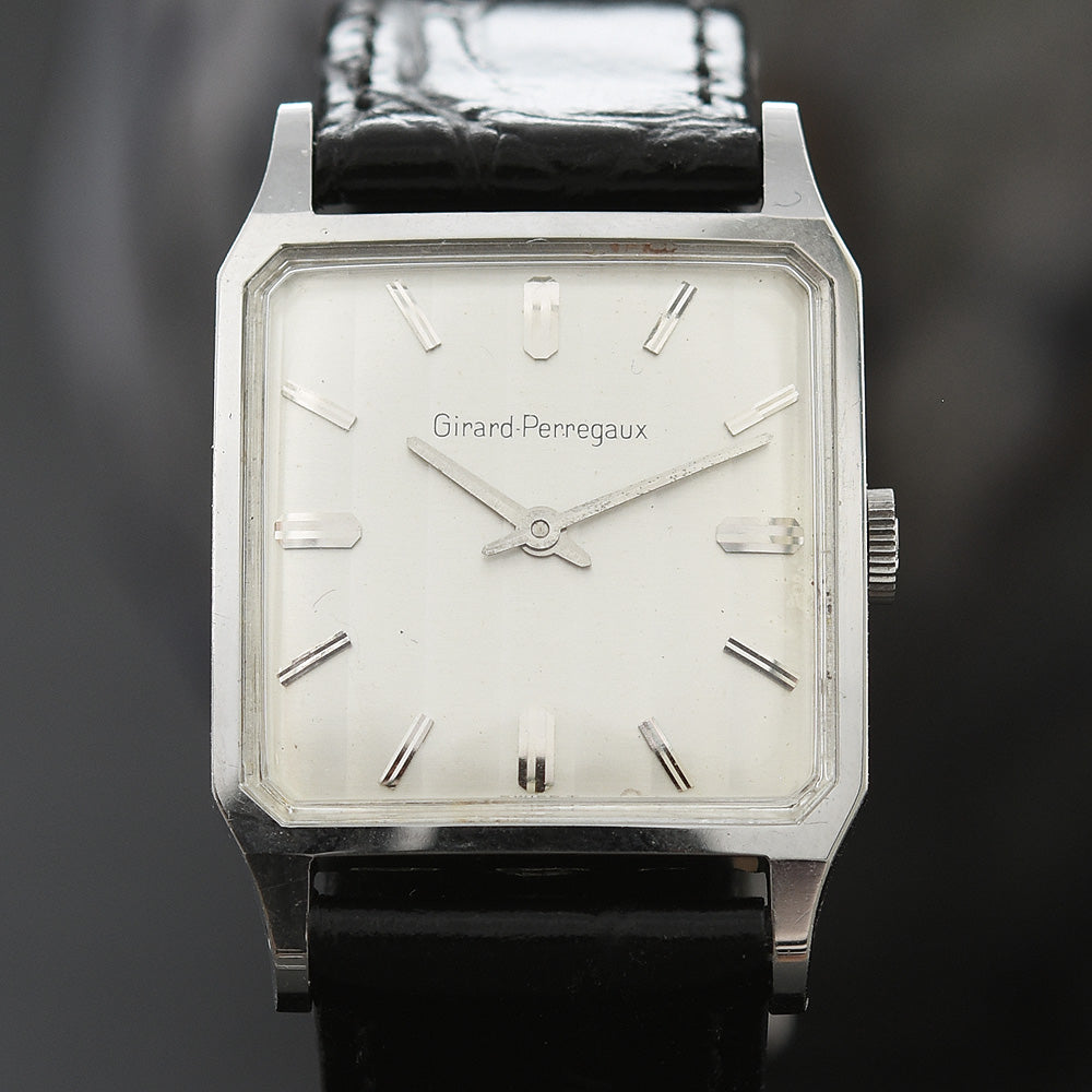 60s GIRARD-PERREGAUX Gents Vintage Tuxedo Dial Dress Watch
