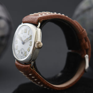 1916 OMEGA Everts Gents WW1 Trench Sterling Silver Swiss Watch