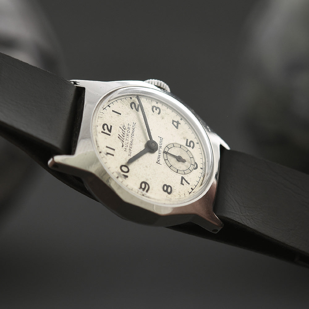50s MIDO Multifort Powerwind Automatic Gents Military Style Watch