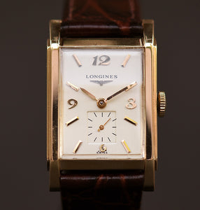 1953 LONGINES Gents 14K Solid Gold Vintage Watch