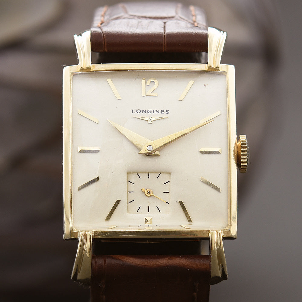 1951 LONGINES Gents 14K Solid Gold Vintage Watch