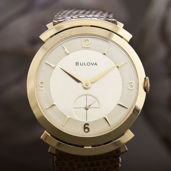 1957 BULOVA USA 23 Jewels 14K Solid Gold Gents Vintage Watch