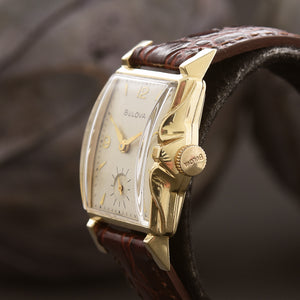 1951 BULOVA Swiss 14K Solid Gold Gents Vintage Watch