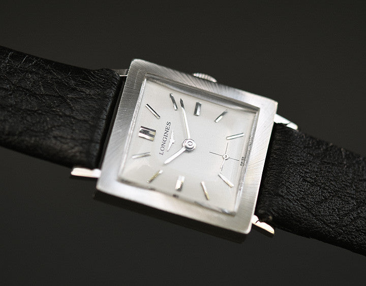 1963 LONGINES Gents 14K Solid White Gold Dress Watch