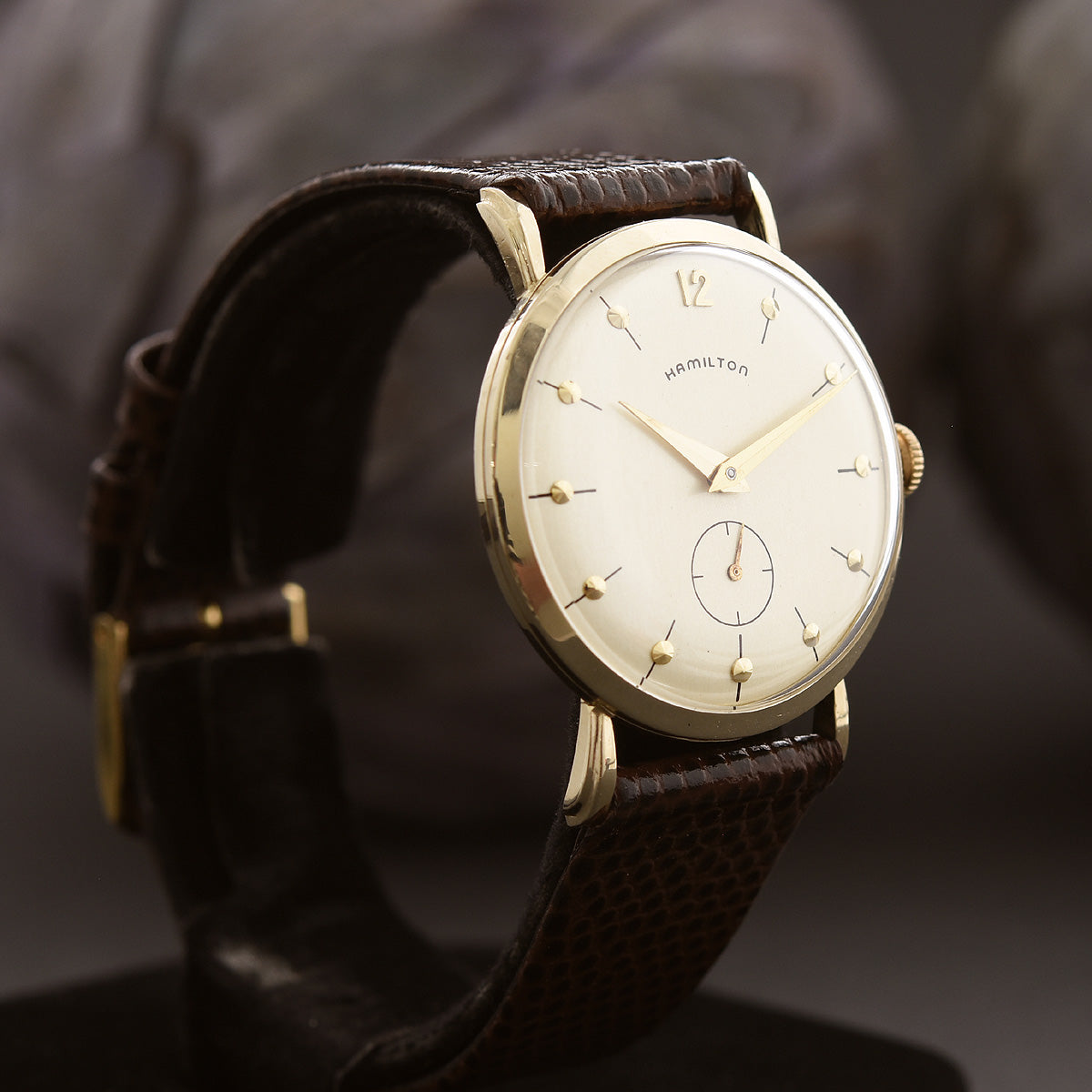1955 HAMILTON USA 'Bradford' 14K Gold Gents Dress Watch