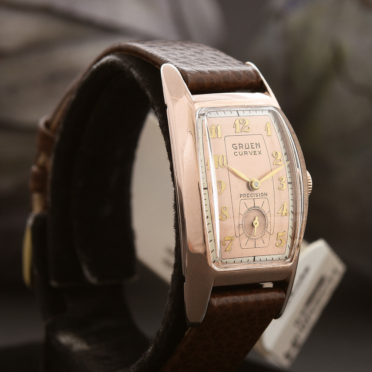 1941 GRUEN Curvex Gents Rose Gold Dress Watch