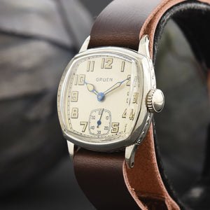 20s GRUEN Guild Gents Cushion Art Deco 705-1 Watch