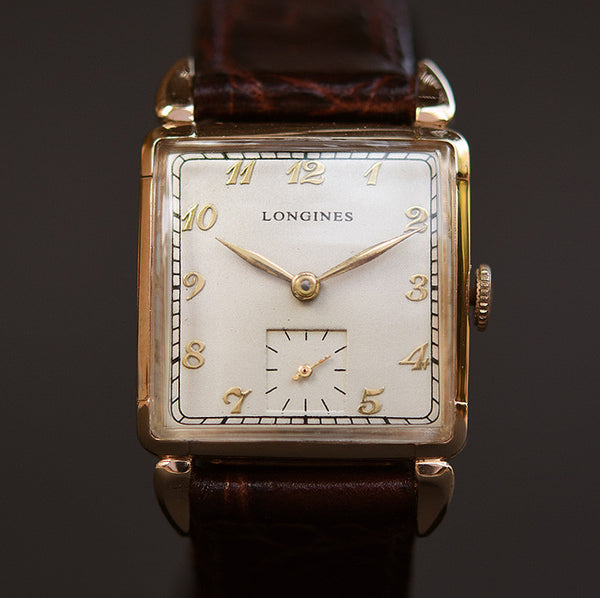 1948 LONGINES Gents 14K Solid Yellow Gold Dress Watch