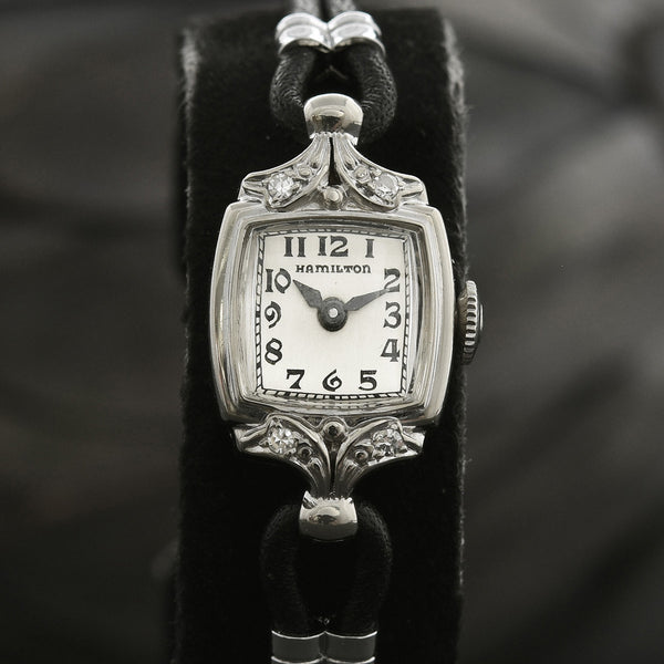 1941 HAMILTON USA 'Lady Hamilton F4' 14K Gold/Diamonds Watch