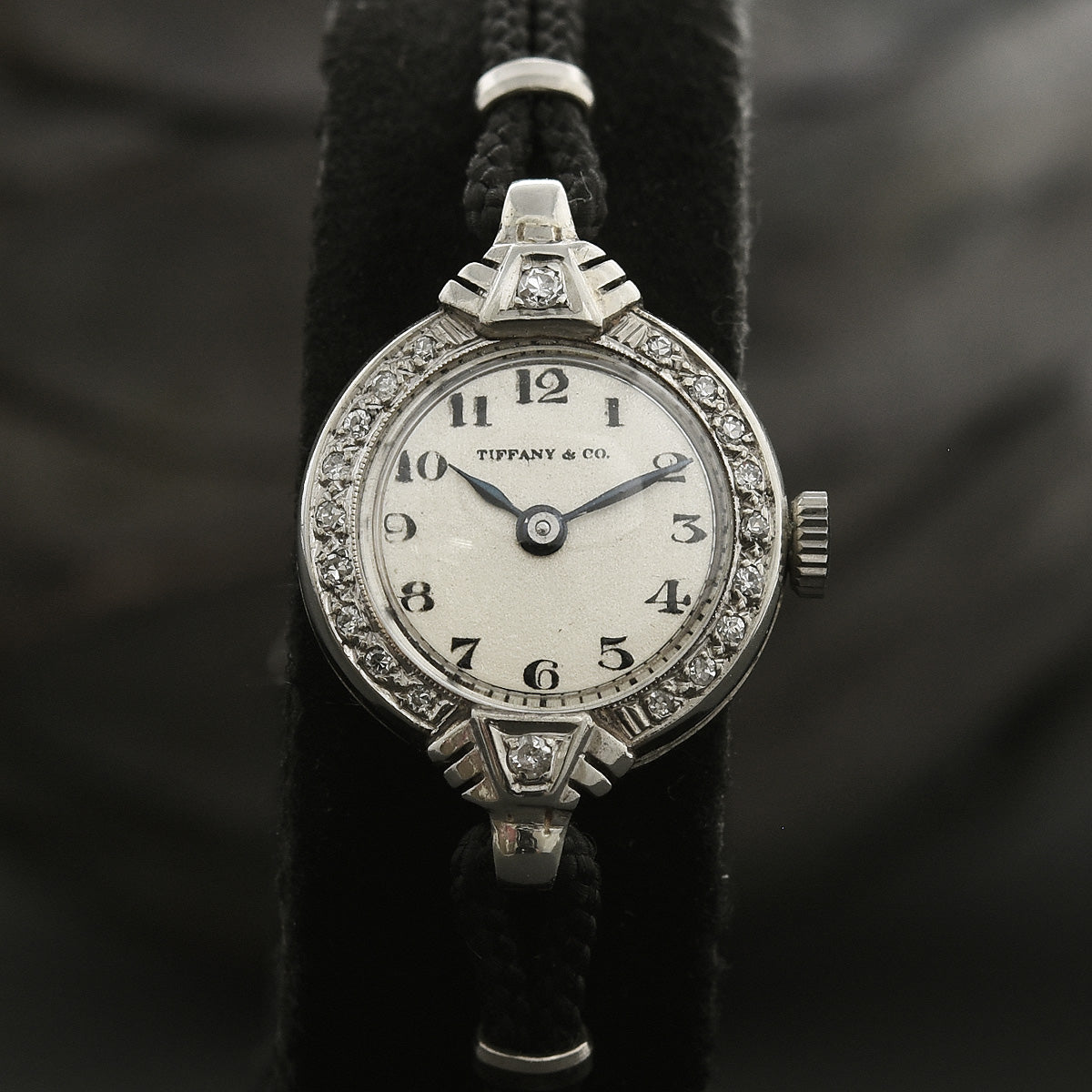 30s TIFFANY Ladies 14K Gold/Diamonds Art Deco Watch