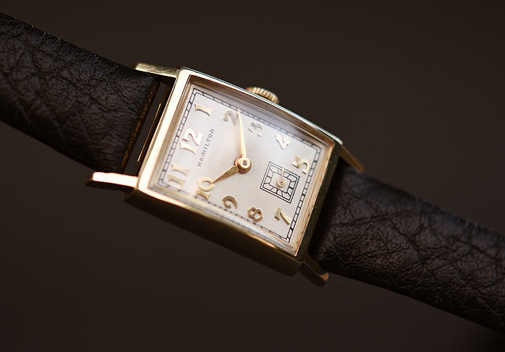1957 HAMILTON USA 'Brockton' 10K Gold Gents Dress Watch