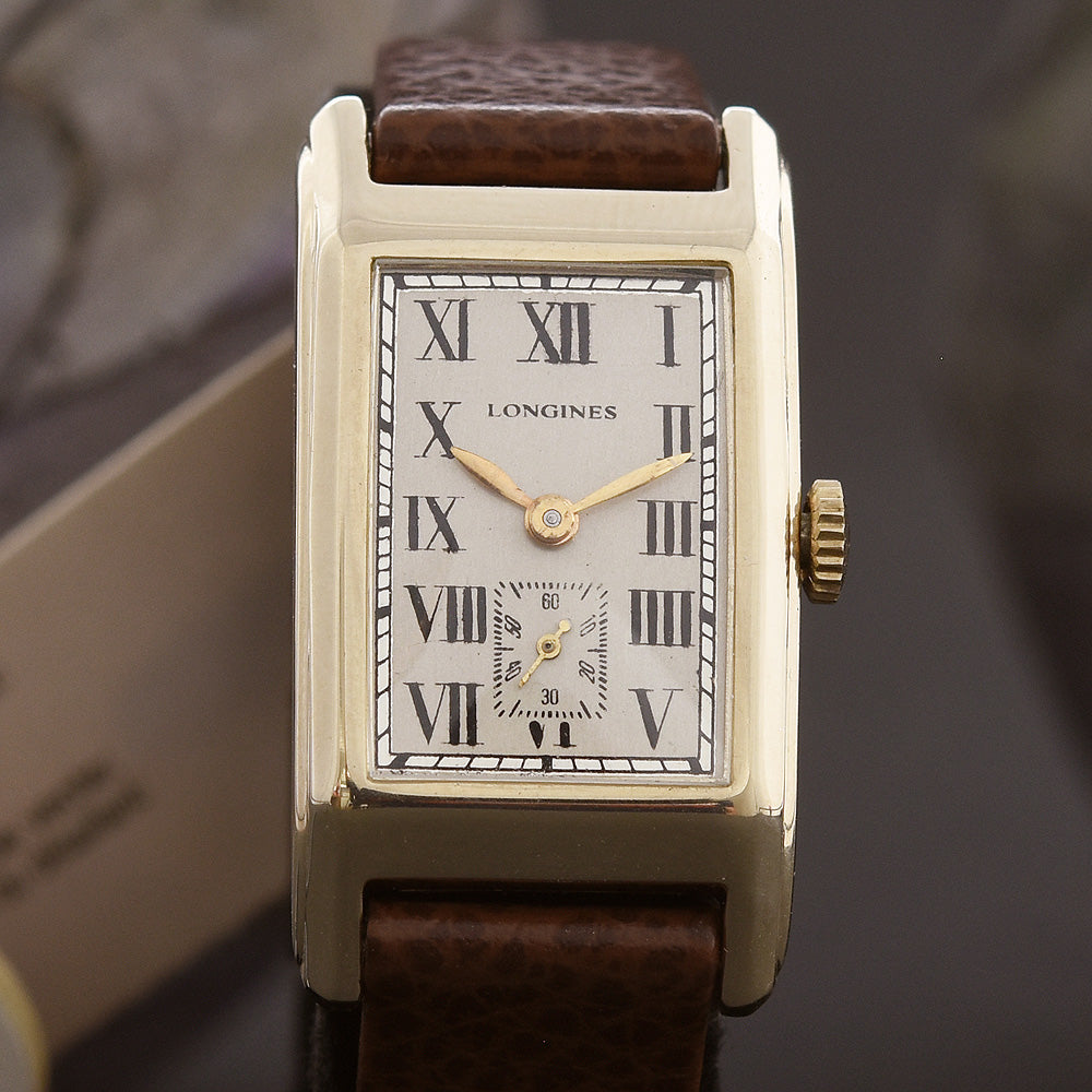 1939 LONGINES Gents 14K Solid Yellow Gold Vintage Watch