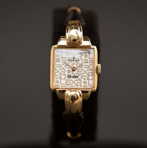 50s ROLEX Orchid Ladies 18K Cocktail Watch Ref. 4211