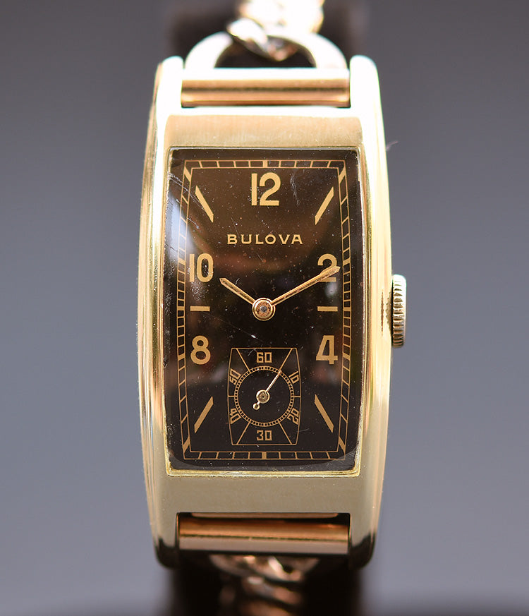 1937 BULOVA USA 'Minute Man' Gents Art Deco Watch