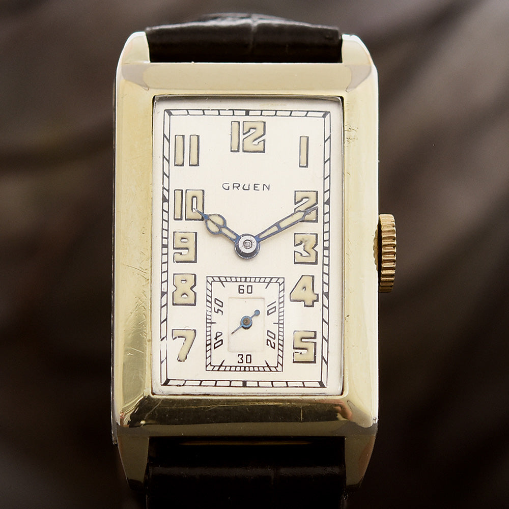 1928 GRUEN 'Quadron' Gents Art Deco Watch