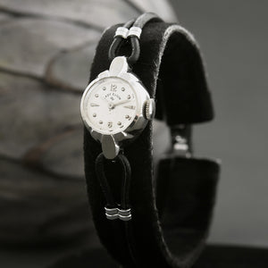 1954 Lady ELGIN USA Ladies 14K White Gold Cocktail Watch