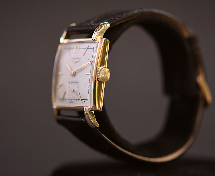 1950 LONGINES Gents 14K Solid Yellow Gold Vintage Watch