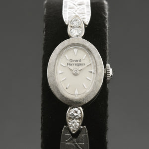 60s GIRARD-PERREGAUX Ladies 14K Gold/Diamonds Art Deco Watch