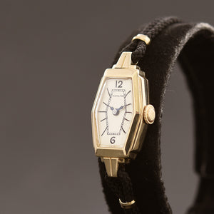 1935 HAMILTON USA 'Sandra' Ladies Art Deco 14K Gold Watch