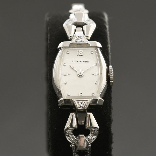 1955 LONGINES Ladies 14K Gold/Diamonds Cocktail Watch