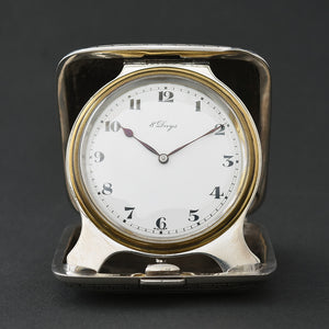 1916 CONCORD 8-Day Swiss Sterling Silver Travel Watch