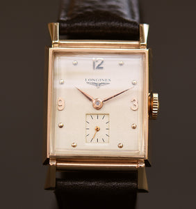 1942 LONGINES Gents 14K Solid Yellow Gold Vintage Watch