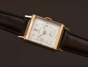 1947 LONGINES Gents 14K Solid Gold/Diamonds Dress Watch