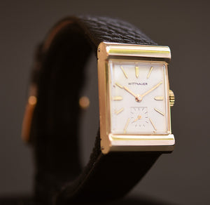 40s WITTNAUER 14K Solid Gold Gents Dress Watch