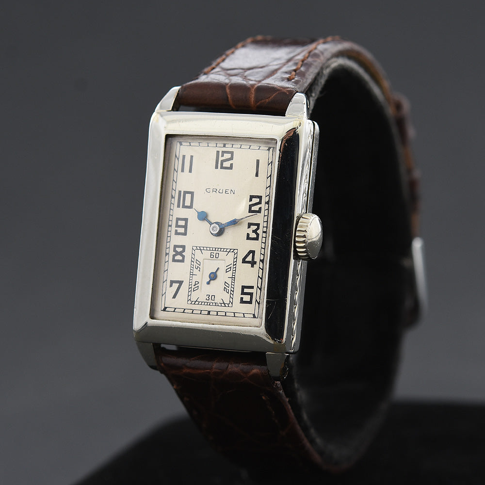 1928 GRUEN 'Quadron' Gents Art Deco Watch 157-8