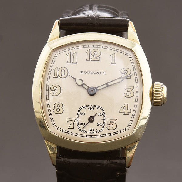 1931 LONGINES Gents Cushion Art Deco Watch