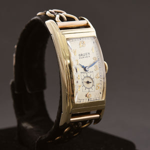 1938 GRUEN Curvex Gents Art Deco Dress Watch 330-308