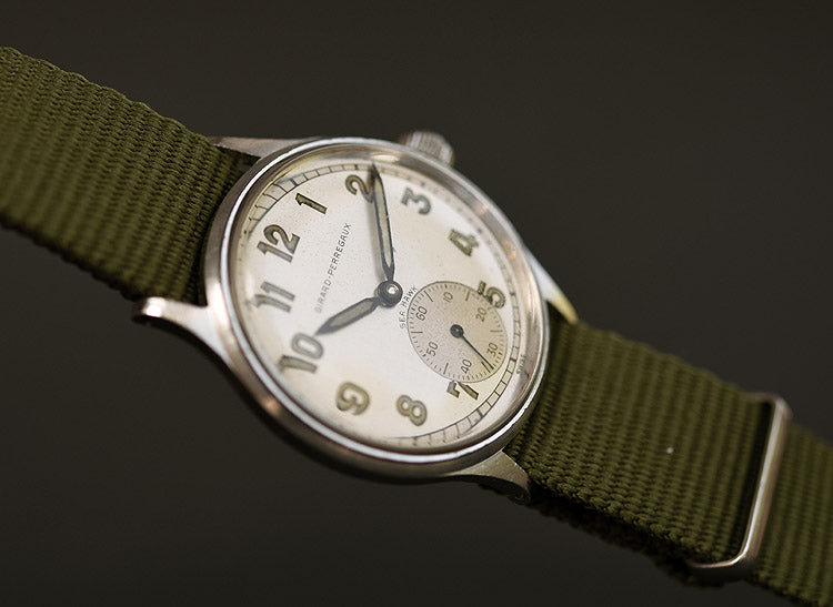 40s GIRARD-PERREGAUX 'Sea-Hawk' Gents Military Style Watch