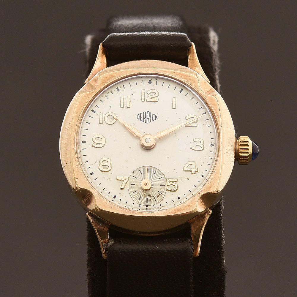 1959 DERRICK 9K Gold Ladies Vintage Cocktail Watch