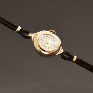 1963 BULOVA 'Dewdrop F' Ladies Swiss 10K Gold Cocktail Watch