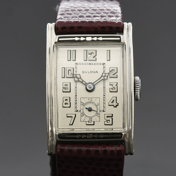 1928 BULOVA 'Windsor' Gents Enamel Art Deco Watch