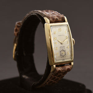 1941 ZENITH Jean Louis Roehrich 14K Gold Gents Dress Watch